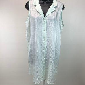 Halston Nightgown Nightshirt Dress Sleepwear